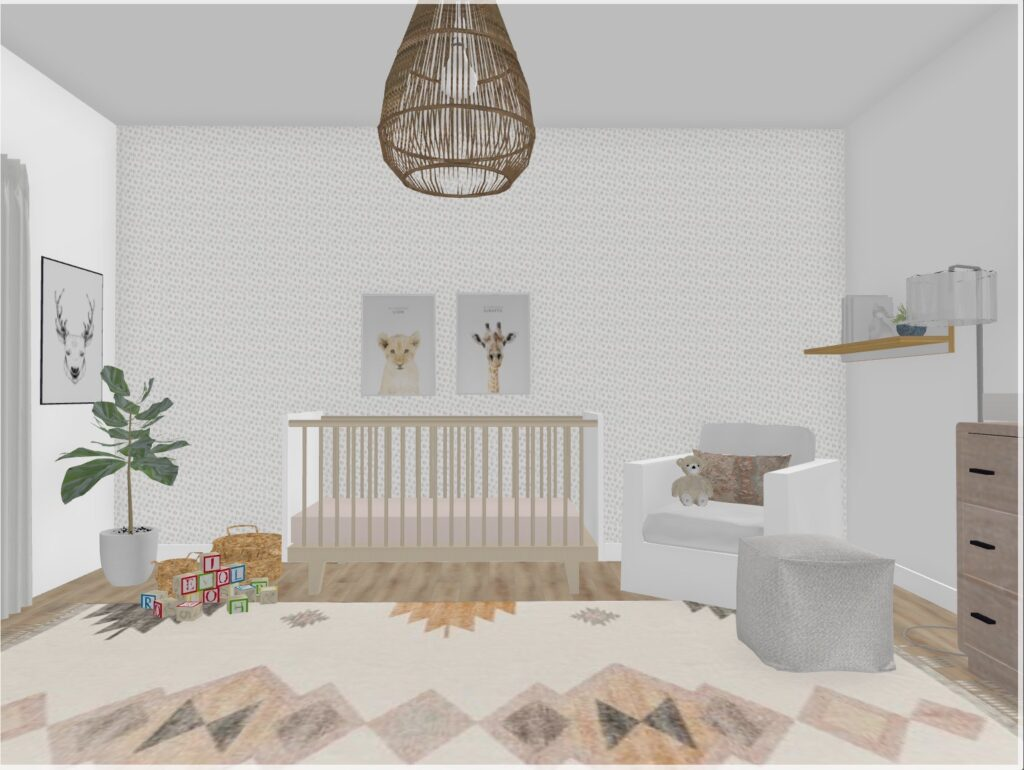 rustic nursery decor